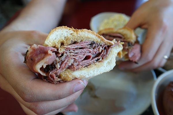 Philippe the Original NY pastrami sandwich