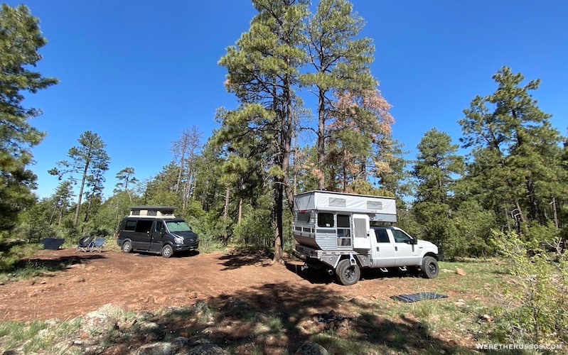 dispersed camping national forest prescott