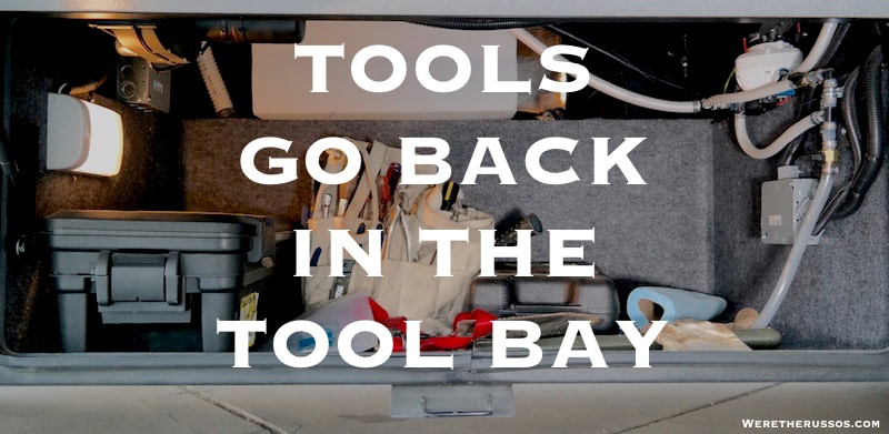 Tools go back in the tool bay