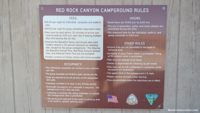 Red Rock Campground Rules