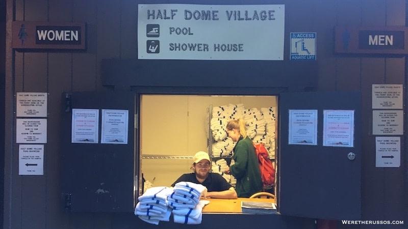 Half Dome Village Shower