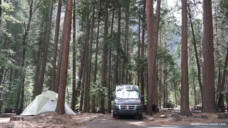 Upper Pines Campground best site