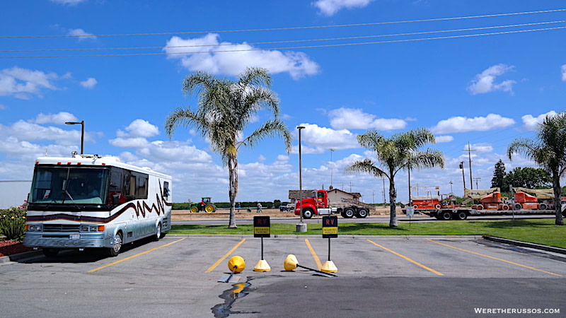 reserved parking truck stop flying j