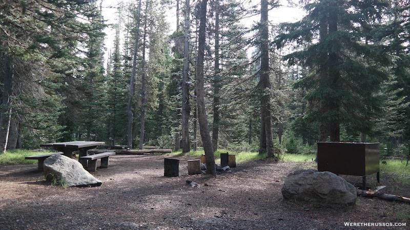 Mazama campground tent site