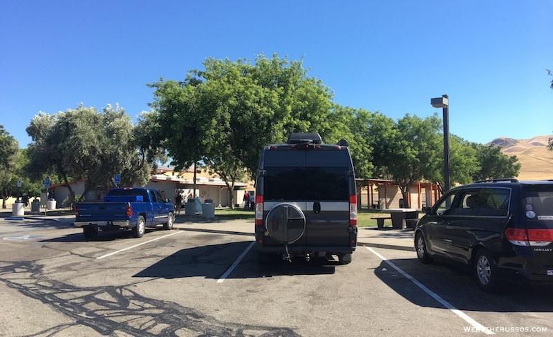 Overnight parking California Rest Area