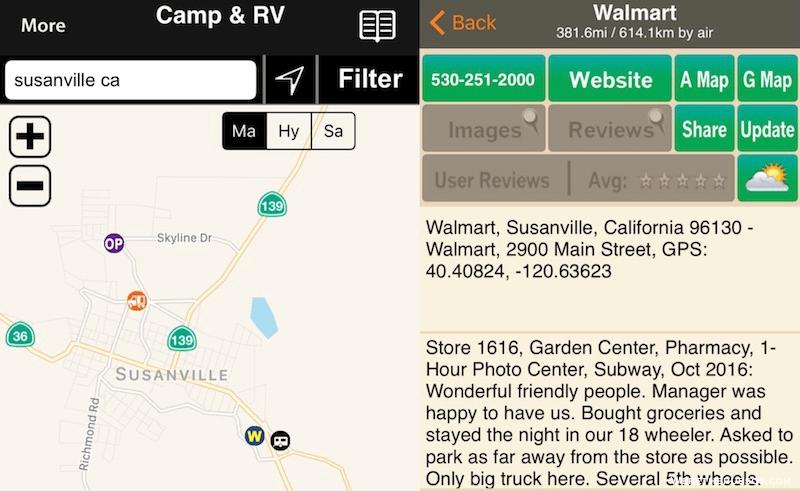 Allstays Camp RV App Walmart