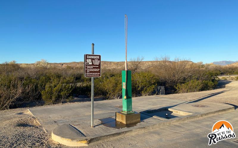 RV Dump Station Big Bend National Park Campground