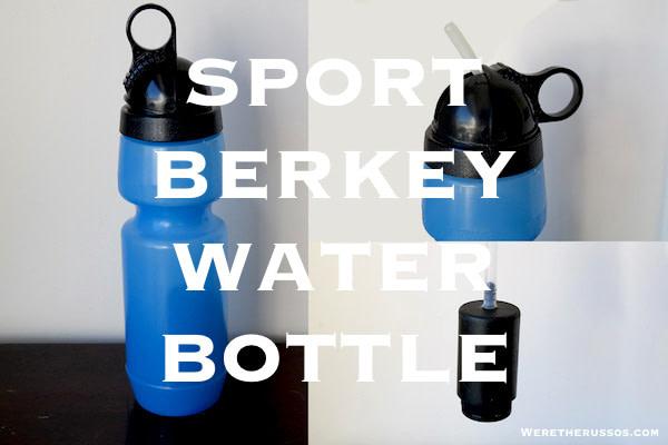 NEW PRINTED SPORT BERKEY WATER BOTTLE PURIFIER PORTABLE