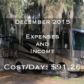 Full Time RVing Costs: Motorhome Edition - December 2015