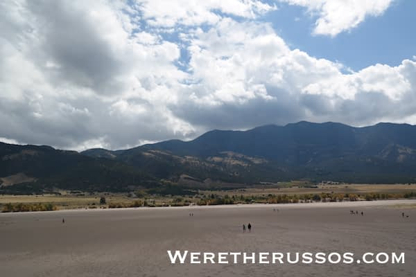 Great Sand Dunes National Park Mountain view