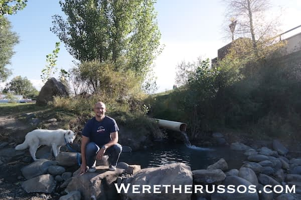 Hot springs next to San Juan river in Pagosa Springs