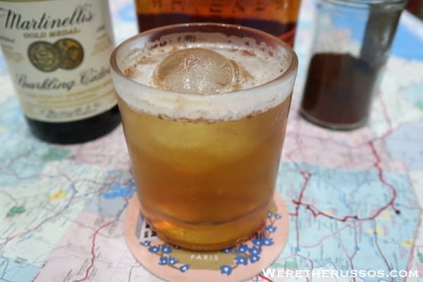 Rye and apple cider cocktail