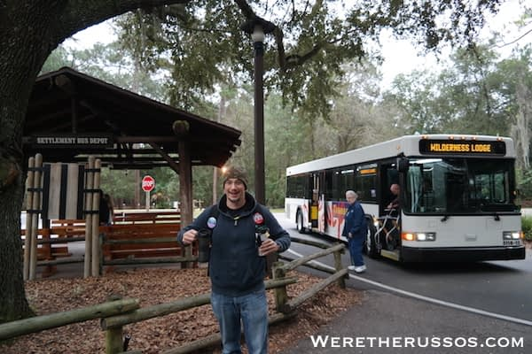 Disney's Fort Wilderness Settlement Bus Depot