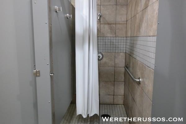Bayou Segnette State Park shower