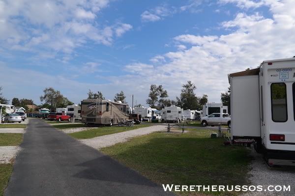 Space Coast RV Resort open site