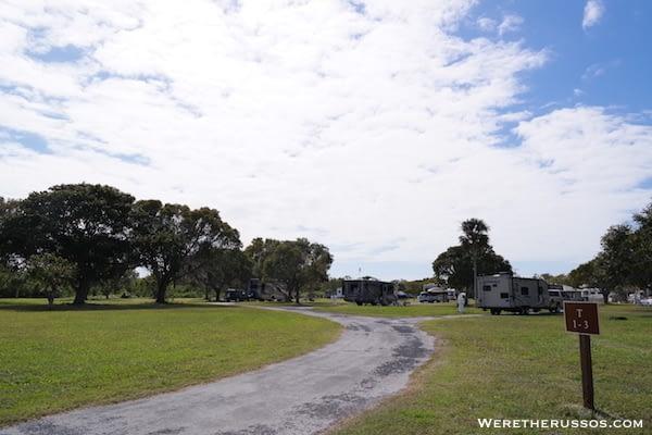 Flamingo Campground Everglades campsites T