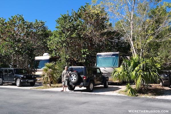 RV Camping at John Pennekamp State Park Key Largo, Florida