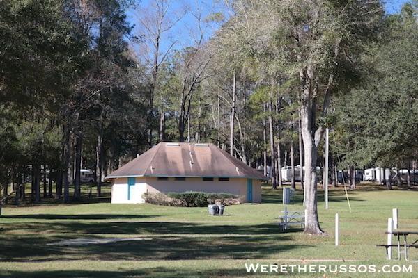 Travelers Campground Alachua Florida bathroom
