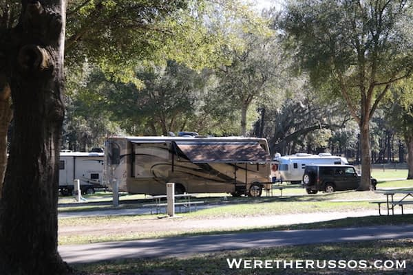 Travelers Campground Alachua Florida site