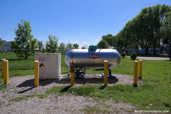 D&W Lake Camping RV Park Champaign propane