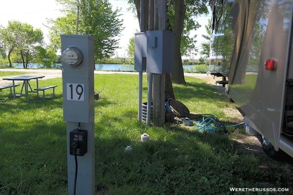 D&W Lake Camping RV Park Champaign site 19