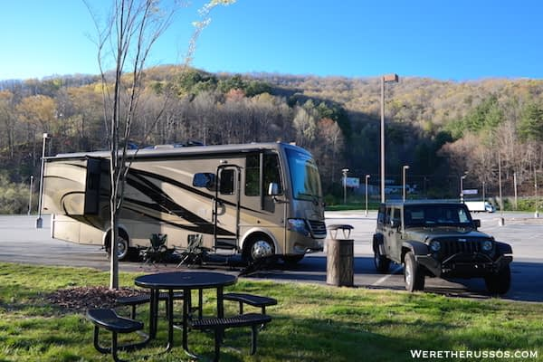 Harrahs Casino Cherokee NC RV parking