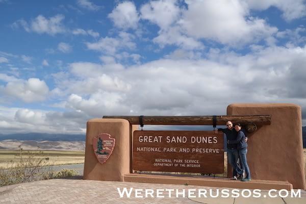 Great Sand Dunes National Park Sign