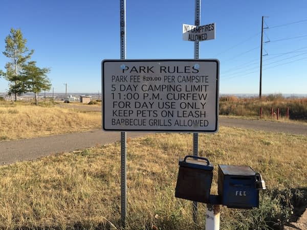 Missile Site Park Greeley Park Rules