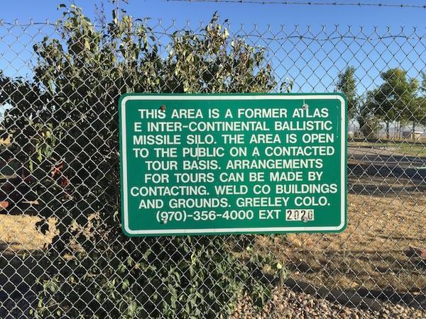 Missile Site Park Greeley sign