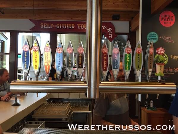 New Belgium Fort Collins beers on tap