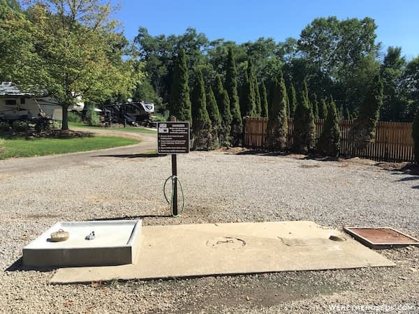 Clays Park Ohio dump station