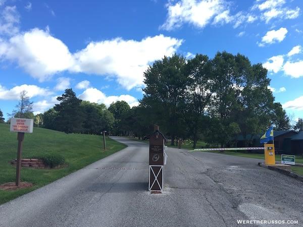 Kenisee Lake Thousand Trails gated entrance