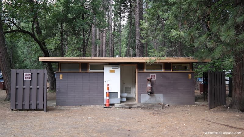 Upper Pines Campground bathroom