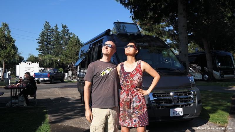 Portland Fairview RV Park Solar Eclipse 2017