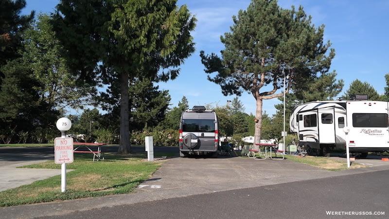 RV Camping Portland Oregon Portland Fairview RV Park