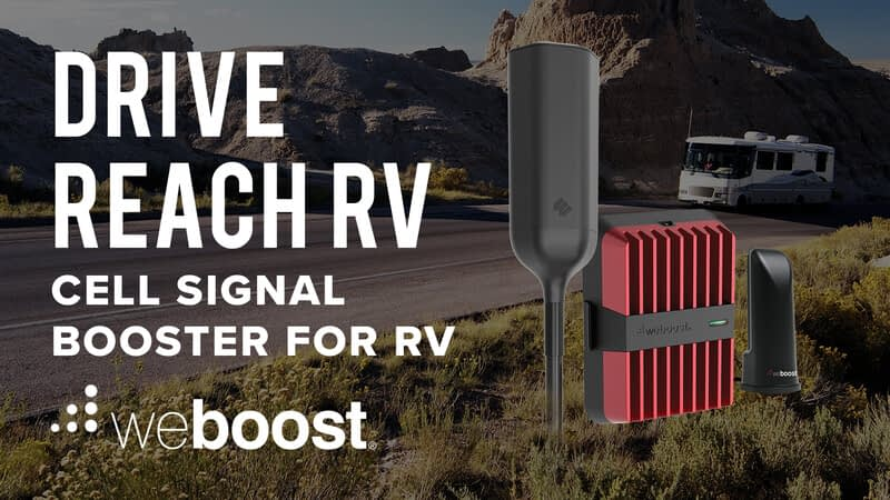 Weboost cell signal booster for RV