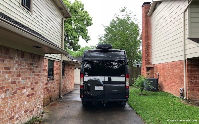 hymer aktiv driveway parking