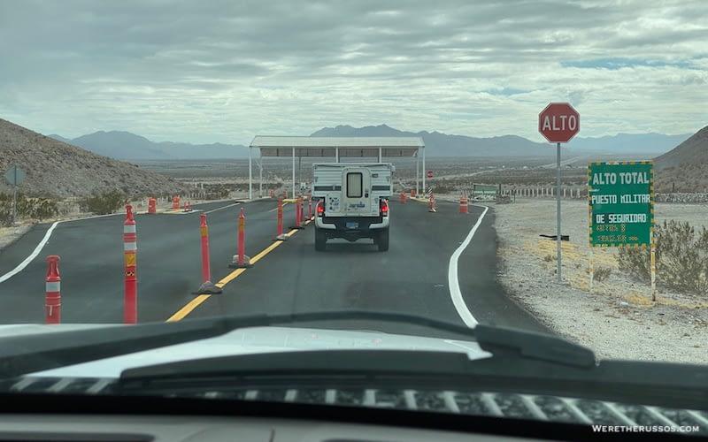Military Checkpoint Baja Mexico
