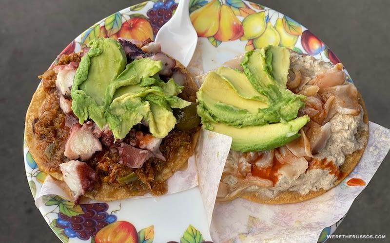 Tostadas at La Guerrerense in Ensenada