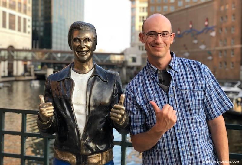 Bronze Fonz Statue in Milwaukee