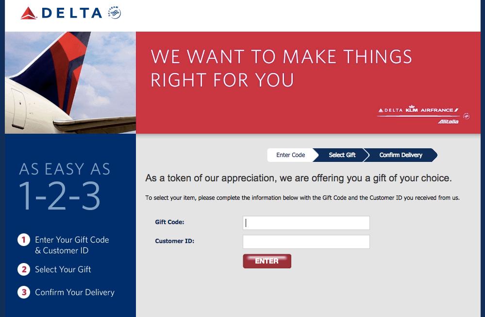 Delta Gift Card Website